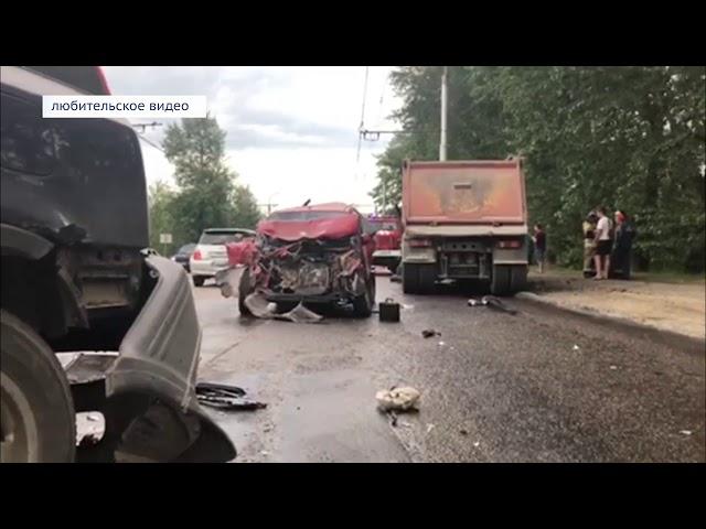 ГИБДД выясняет обстоятельства ДТП с участием 10 авто