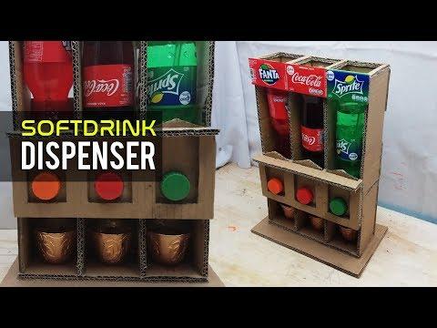 Cara Membuat Dispenser Soft Drink Dari Kardus Bekas