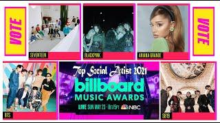HOW TO VOTE? Top Social Artist in Billboard Music Award Categories