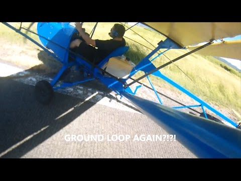 Bloopers in learning to fly... in a taildragger ultralight Affordaplane