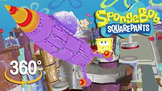 Spongebob Squarepants! - 360° Rocket Ship Run with Sandy - (The First 3D VR Game Experience!)