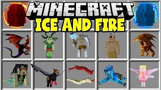 Minecraft ICE AND FIRE DRAGONS MOD   RIDE DRAGONS, FIGHT CYCLOPS, TAME FLYING MOUNTS & MORE!!