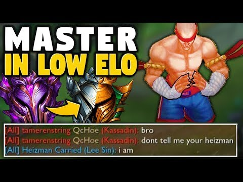 WHEN A MASTER LEE SIN VISITS LOW ELO - League of Legends