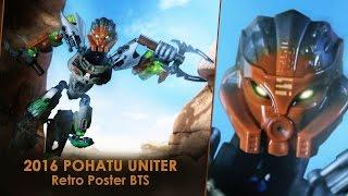BIONICLE 2016 POHATU UNITER Retro poster BTS