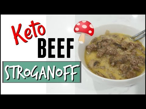 COOK WITH ME BEEF STROGANOFF ● LOW CARB KETO BEEF STROGANOFF RECIPE ● KETO FAMILY MEAL PREP