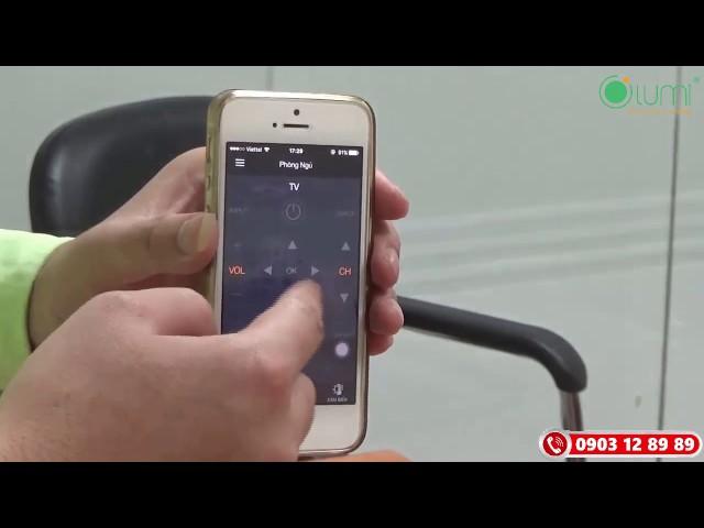 Quy trình kết nối điều khiển hồng ngoại của nhà thông minh LUMI Việt Nam