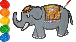 Kids Art Elephant Coloring And Drawing, Toddlers - Jelly Kids Art