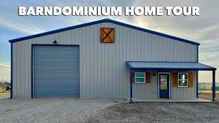 1250 Sqft COMPLETED BARNDOMINIUM HOME | EMPTY HOUSE TOUR | Texas Best Construction