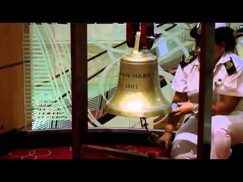 Läuten der Schiffsglocke auf der Queen Mary 2