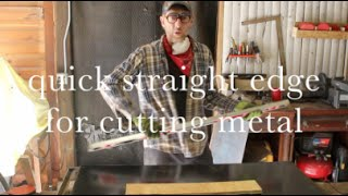 how to cut straight lines on sheet metal