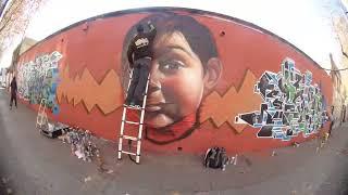 Graffitis de Pako , Dam y Berok en Selva de Mar , Barcelona