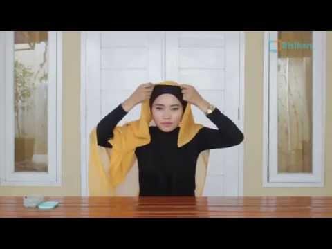 Hijab Tutorial   Cara Memakai Jilbab Paris Segi empat Square Scarf Untuk Pesta