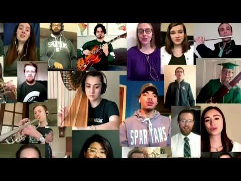 Virtual commencement: Michigan State University celebrates graduates online