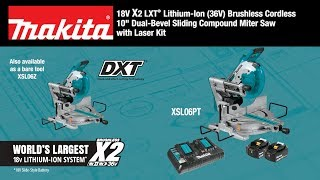 "MAKITA 18V X2 LXT® (36V) Brushless 10"" Dual-Bevel Sliding Compound Miter Saw - Thumbnail"