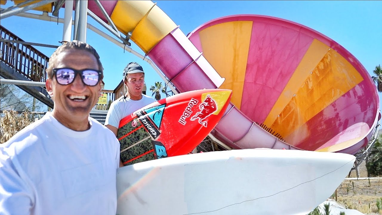 Surfing at an ABANDONED WATER PARK thumbnail