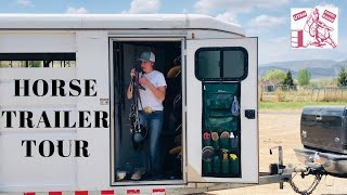 ULTIMATE HORSE TRAILER TOUR + TACK ROOM TOUR