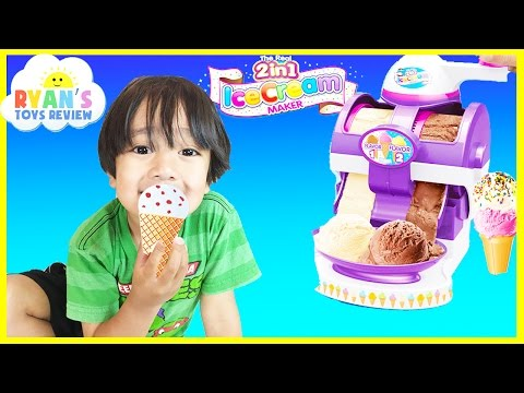 ICE CREAM MAKER Cra-Z-Art The Real 2 in 1 Ice Cream Machine Toy