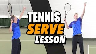 Tennis Serve Lesson For Beginners   How To Hit A Serve