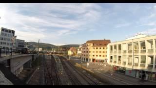 preview picture of video 'Bahnhof Baden mit Busstation Ost und West'