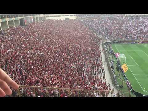 """""""Torcida Flamengo celebra segundo gol en final Copa Libertadores 2019"""" Barra: Nação 12 • Club: Flamengo"""