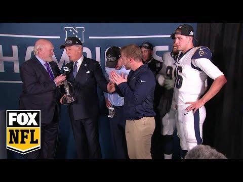 Los Angeles Rams celebrate NFC Championship in locker room   FOX NFL