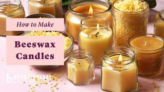 How To Make Beeswax Candles - Tips And Tricks From An Expert Candlemaker! | Bramble Berry