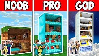 Minecraft NOOB vs PRO vs GOD : FAMILY BLOCK HOTEL CHALLENGE in Minecraft ! AVM SHORTS Animation