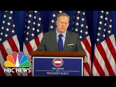 Incoming White House Press Secretary Sean Spicer Defends Donald Trump's Cabinet Diversity | NBC News