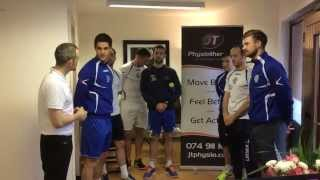 Finn Harps celebrate World Mental Health Day at JT Physiotherapy