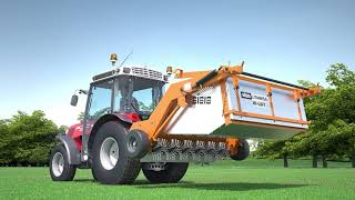 SISIS Tractor Mounted Sweepers for Golf Courses and Sports Pitches