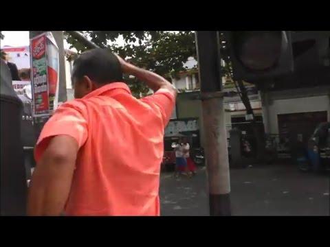 Tuk Driver Violent Attack. Kandy. Sri Lanka. 2016