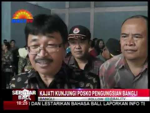 Kepala Kejaksaan Tinggi Bali Dr. Jaya Kesuma, SH.MH. Mengunjungi Pengungsi Gunung Agung