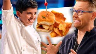 Kid Chef Wows Richard Blais with Amazing Seafood Dishes! | Universal Kids
