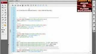 flash tutorial as3 cs3 library sound linkage code