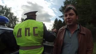 Таксист-обочечник пошёл на таран, ДТП, ДПС, это он зачем так сделал.?