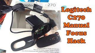 Logitech C270 Webcam Manual Focus