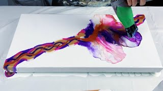 #169 - Magical Dutch Pour Using Primary Elements | Fluid Artist | Acrylic Painting