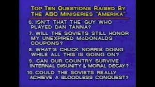 """Amerika"" References on Late Night, February 1987"