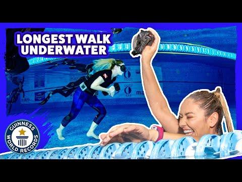 Longest Walk Underwater on a Single Breath