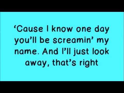 Glee - Loser Like Me [Lyrics On Screen]