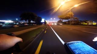 preview picture of video 'On my bike riding through Manukau City at night'
