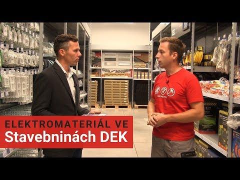 Nákup elektromateriálu ve Stavebninách DEK