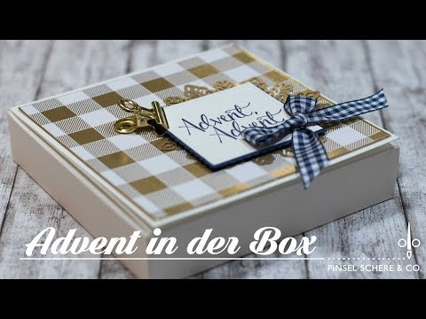 Advent in der Box | Adventskranz to go | Duft-Teelichte adventlich verpackt | Stampin' Up!