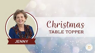 The Easiest Christmas Table Topper / Mini Tree Skirt Youll Ever Make!