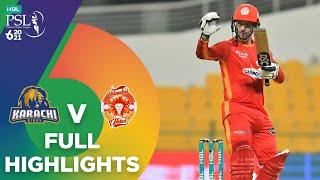 Full Highlights | Karachi Kings vs Islamabad United | Match 22 | HBL PSL 6 | MG2T