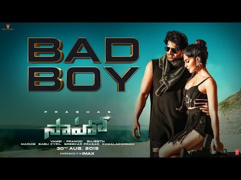 Saaho Telugu Bad Boy Song