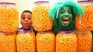 CHEESE BALL CHALLENGE!!! - Shiloh and Shasha - Onyx Kids