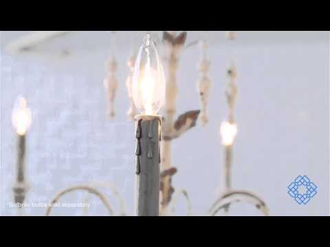 Video for Salento Six-Light Persian White Chandelier