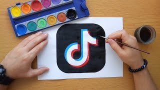 Gambar cover How to draw a Tik Tok logo - Part 1 (DIY TikTok logo)