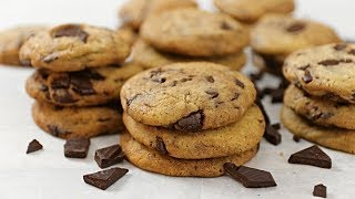 מתכון לעוגיות שוקולד צ'יפס מפוצצות בשבבי שוקולד